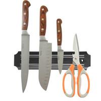 Wholesale High Quality Strong Magnetic Knife Holder Tool Rest Shelf For Kitchen Pub Bar Counter Black Knife Holder order lt no track