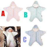 Wholesale Baby And Children s Sleeping Bag Newborns Cotton Star Chevron Sleeping Bag Winter Warm Infant Strollers Bed Swaddle Blanket Wrap FS16 B