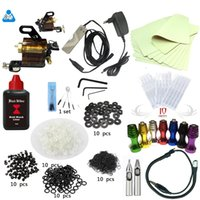 Wholesale Tattoo Kit Rotary Tattoo Machines Guns Equipment Ink Gun Set Tatoo combine power system ml ink