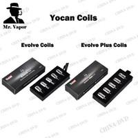 Wholesale Authentic Yocan Evolve Coil Head Evolve Plus Coils Quatz Dual Coils Fit Evolve Vaporizer Dry Herb Wax Vaporizer Pen Kits DHL Free