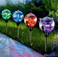 Wholesale Solar lights spherical Dengcao garden lights garden lights inserted lights hanging lamps hydroplaning lights garden decoration