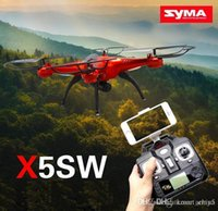 Wholesale Drones SYMA X5SW WIFI RC Drone FPV Helicopter Quadcopter with HD Camera G Axis Real RC Helicopter Toy better