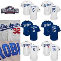 Wholesale 2016 Dodgers Postseason Jersey Men s Corey Seager Charlie Culberson Julio Urias Yasmani Grandal Justin Turner Jerseys White Blue