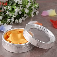 round cardboard gift box - HOT Sliver Round Bracelet Bangle Storage Organizer Display Box Gift Package Case Boxes Transparent Window Bracelets Display Boxes