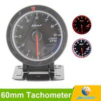 Wholesale Tachometer Rpm Gauge mm D fi CR Black Face Red White Lighting Car Rpm Meter Tachometer D fi Advance CR Auto Gauge Tacometro