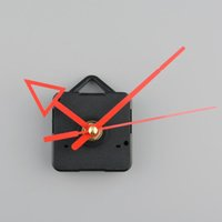 battery powered clock movements - Silent Clock battery power Quartz Movement Mechanism Red Arrow Hand DIY Replacement Part Repair Set