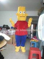 bart plush - Bart yellow plush cartoon mascot costume hot sale Bart mascot