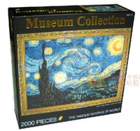 Wholesale 2000 adult Years Years Grownups puzzle world famous Van Gogh painting paper plane sky toy