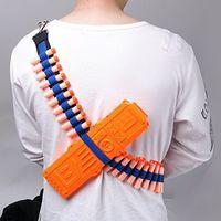 Wholesale Bandolier Toy Gun Soft Bullets Belt Shoulder Strap Clip Charger Darts Ammo Storage For Nerf N strike Blasters Cartridge Holder