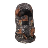 Wholesale Bionic camouflage winter hunting thermal camouflage mask fleece caps