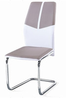 Wholesale home dining chair with chrome leg
