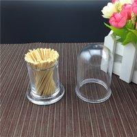 acrylic toothpick holder - Special high grade plastic round portable acrylic toothpicks holder transparent plastic toothpick dispenser