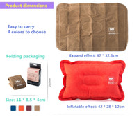 Wholesale Outdoor inflatable pillow for outdoor adventure travel office and home with fast convenient and comfortable pillow compressible