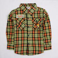 Wholesale The new boy shirt trendy cotton long sleeve shirt grid south Korean style jacket