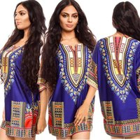 Wholesale 2016 African traditional printed Dashiki dress Plus Size Vestidos Womens T shirt Fashion design skirt African girls clothing National dress