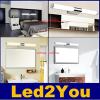 Wholesale New Arrival High Quality W W W W Brief Tube Stainless Steel LED Warm White White Wall Light Bathroom Mirror Lamp V AC
