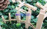Wholesale 25MM Useful Mini Wooden Clothes Photo Paper Peg Clothespin Craft DIY Clips