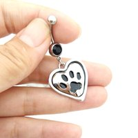 bear paw rings - Cute Bear paw Dangle Belly Rings Barbell Bar Sexy Belly Button Rings Navel Body Piercing Ombligo Ring For Women Girl Gifts