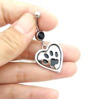 bear paw rings - Cute Bear paw Dangle Belly Rings Barbell Bar Sexy Belly Button Rings Navel Body Piercing Ombligo Ring For Women Girl Gifts