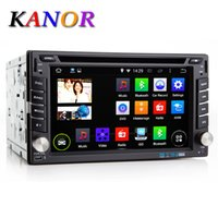 Wholesale Kanor Double Din Universal Android Quad Core ROM G Car DVD Player Capacitive Touchscreen GPS Navigation Car PC Autoradio