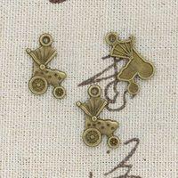 antique baby strollers - 200pcs Charms stroller baby mm Antique Making pendant fit Vintage Tibetan Bronze DIY bracelet necklace