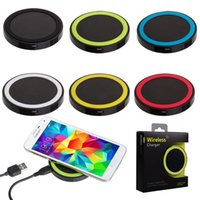 apple charging devices - New arrival Qi Wireless Charger Cell phone Mini Charge Pad Qi abled device for Samsung apple nokia htc LG S6 plus s ect