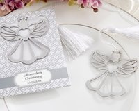 angels giveaway - 100pcs Angel Bookmark For Baptism Baby Shower Souvenirs Party Giveaway Gift Wedding Favors and Gifts For Guest