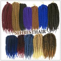 Wholesale Crochet Braid Hair inch g pack Synthetic Havana Mambo Crochet Twist Braids Senegalese Twist Freetress Braid Hair Extensions