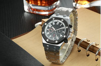 ap cases - 2016 New Arrival AP Brand Auto Watch Men mm Black Dial Glass Back Analog Gold Case Gold Band Oak Off Leisure Watchs