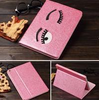 apple ipad inner - Smart Tablet PU leather Case Glitter Big eyes ultrathin flip full covers with tpu inner for ipad ipad mini colors