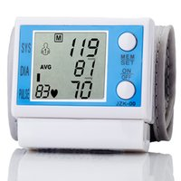 Wholesale LCD Full Automatic Digital Wrist Blood Pressure Monitor Portable Blood Pressure Monitor with Large LCD Sreen Healthy Care