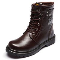 Wholesale Brand Men winter outdoor lace up Cow leather high wool warm Motorcycle western cowboy desert army military forces martin boots Big Size J150