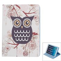accessories ipad compatible - IPAD AIR fashionable owls to protect the PU leather case silicone Compatible Models Ipad AIR Style white deep purple and blue