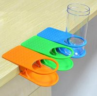 Wholesale New Style Home Office Drink Plastic Cup Coffee Holder Clip Desk Table Candy Colors
