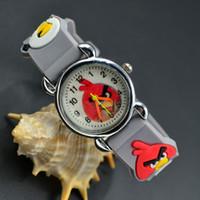 Wholesale 3D Cartoon Lovely Kids Girls Boys Children Students Bird Quartz Wrist Watch Very Popular