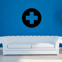 applied services - Red Cross Logo Design Art Decor Vinyl Wall Stickers Apply To Public Service Activities