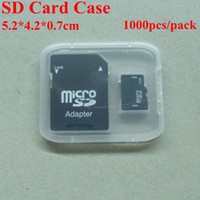 Wholesale Memory Card Clear Plastic Packing Boxes Retail Package Box for SD TF Card Plastic Box Card Pack T Flash Card Case MicroSD Card Box Mirco Box