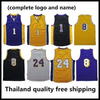 Wholesale High quality kobe Bryant jersey retro lower merion high school Russell Retro shirt uniform yellow purple white black blue
