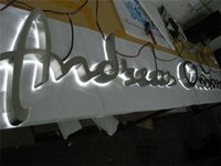 Wholesale Factory Outlet Outdoor brushed mirror polished stainless steel back lit LED channel letter metal letter lights