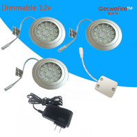 adapter installation - 12v DC Recessed installation W with pc leds LED Puck Cabinet Light LED spotlight PC connector line pc v1a adapter