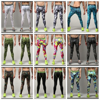 Wholesale LJJG123 Digital Camo Fitness Jogging pants Mens Running Compression Tights Long Pants Mens Gym Sports Basketball Training Leggings