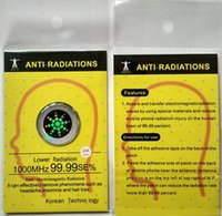 Wholesale 2016 hot realy work mobile phone anti radiation shiny sticker quantum shiled scalar energy chip by