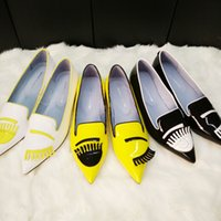 big eye branding - Colorful big eyes brand women flat loafers casual runway street shoes real leather free drop shipping FA19925