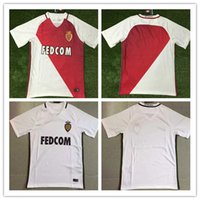 best mens shorts - Best Qulaity Monaco home red white away white Jersey soccer jerseys adult mens SHIRTS home kits sets