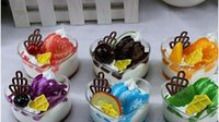 artificial cup cakes - Artificial food mug up heart ice cream cup fruit cake props toy props gift E0466