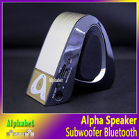 alpha shape - Alpha Shape Bluetooth Wireless Stereo Speakers Mini Car Computer Portable Speaker Call Hansfree Support FM TF Card VS New Pill Pill XL