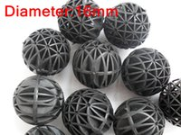 Wholesale 100Pcs Aquarium Pond mm Biological Bio Balls Filter Media with Sponge for Fish Tank Koi Pond Filter Pond and Sump Filters
