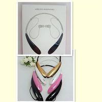 Wholesale HBS HBS800 HBS Headphone Sports Stereo Bluetooth Wireless Headset for Samsung LG Blackberry iPhone Bluetooth Headphone