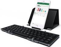 Wholesale 10pcs Wireless mini bluetooth keyboards universal folding portable light weight for Samsung S6 iPhone iPad air IOS Android
