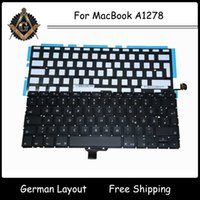 Wholesale New German Germany Layout Keyboard with Backlit Backlight for MacBook Pro A1278 Year